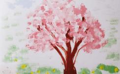 ぞうさんの絵「日本の桜」ゆめ花作