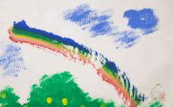 ぞうさんの絵「虹」りり香作