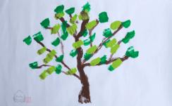 ぞうさんの絵「新緑の木」りり香作